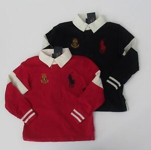 8ea6a35e0be NWT Ralph Lauren Boys LS Big Pony Striped Cotton Jersey Rugby Shirt ...