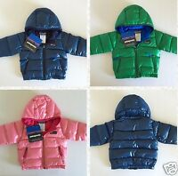 $130 Patagonia Hi-loft Down Sweater Hoodie Toddler Boys' And Girls' 6m