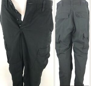 Image is loading COMBAT-TROUSERS-MILITARY-Black-Camo-Pants-Men-Small- 8cefc80a150