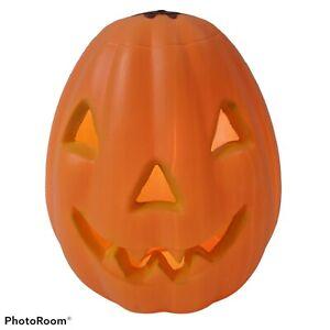 "Halloween Light Up Blow Mold Jack O'Lantern 13"" missing stalk General Foam"