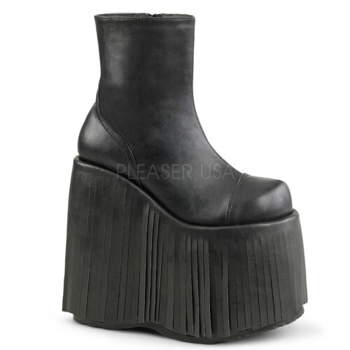 "DEMONIA Gothic Punk Gogo Dancer Raver 7/"" Platform Ankle High Boots SLAY205//BVL"