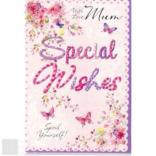 Joyeux Anniversaire Carte De Vœux-WITH LOVE MUM SPÉCIAL souhaite gâtez-vous