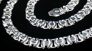 Flach-Koenigskette-Massive-Etrusker-Halskette-65cm-echt-Silber-925-Sterlingsilber