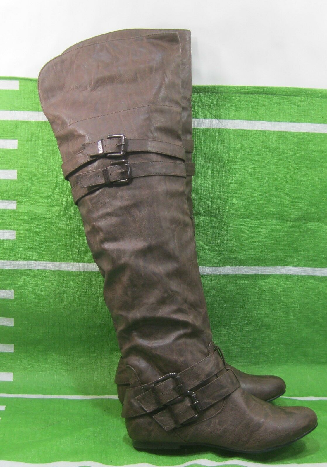 CHOCOLATE BROWN Round Toe Over  Knee Sexy Boots Side Buckle Us Womens Size  6