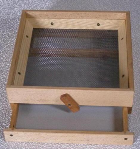 Käfersieb Getreidesieb mit Schublade 25x25 cm
