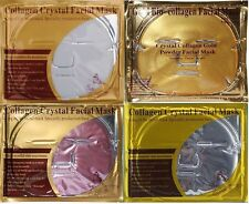 40X 10 Each Gold /Red Wine /Pearl /Transparent HA Collagen Face Facial Mask Sale