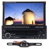 7touch Screen 1 Din Car Dvd Player Bluetooth Radio Ipod Tv Usb Sd+backup Camera