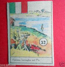 figurines picture cards cromos figurine v.a.v. vav 32 anni 40 battaglia fiume po