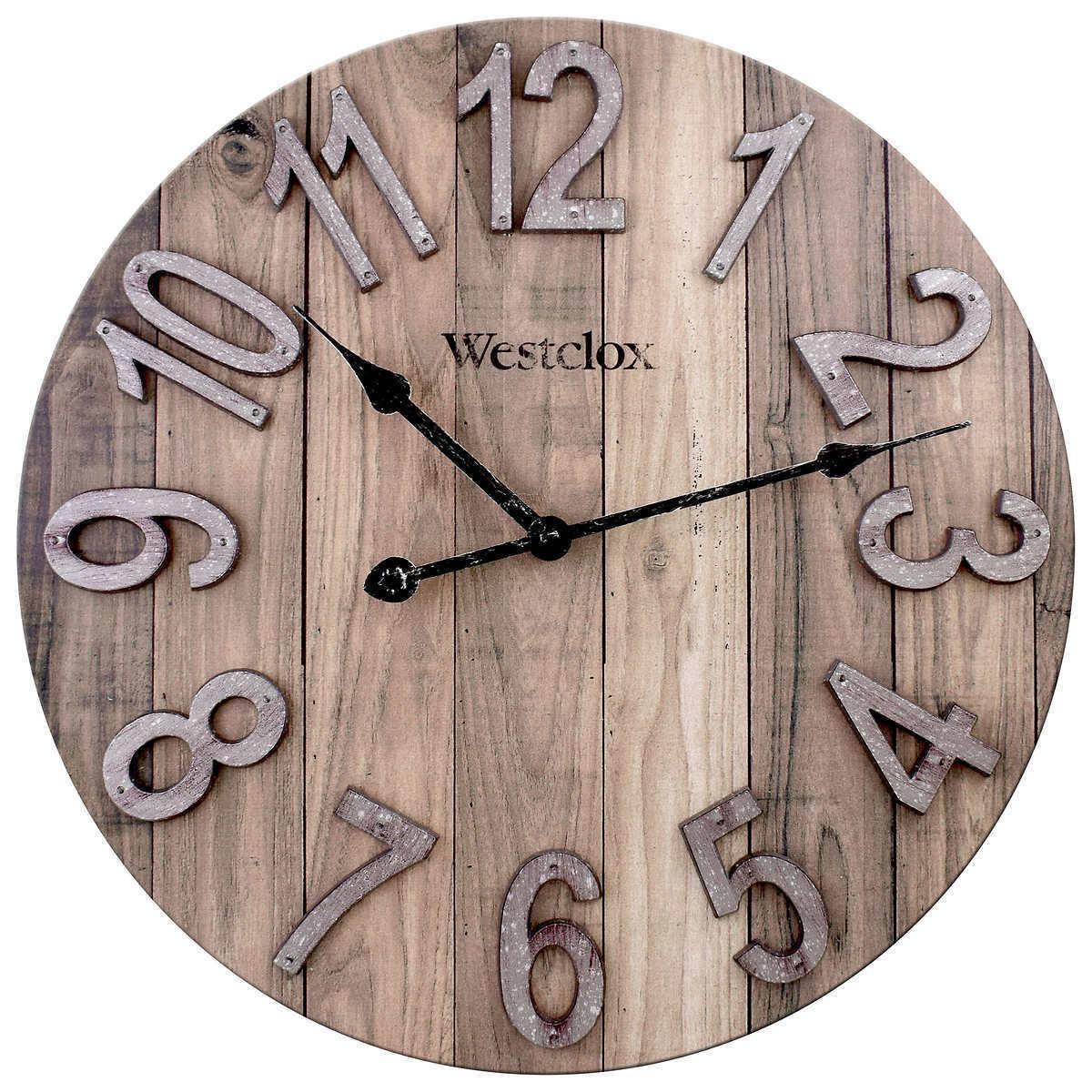 East Urban Home Designart Wooden Walls And Windows Farmhouse Wall Clock For Sale Online Ebay