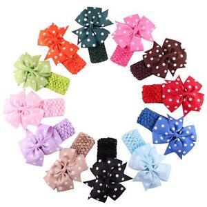 Fashion-Baby-Girl-039-s-Headband-Flower-Bow-knot-Dot-Head-Hair-Wear-Accessories-Gift
