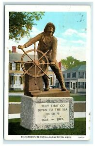 Postcard-Fisherman-039-s-Memorial-Gloucester-MA-1933-G28