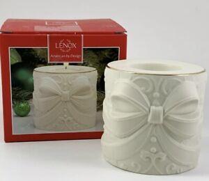 Lenox Radiant Light Santa Votive Christmas Sleigh Tea Light Candle Holder