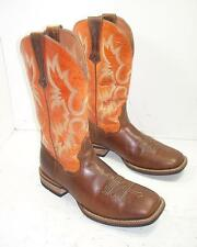 58SS Mens Ariat Tombstone 10014023 Brown Sunny Side Cowboy Boots sz 11 D