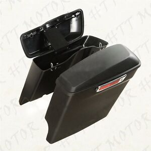 Stretched-Saddlebags-W-Lib-One-Touch-Latch-Lock-For-2014-2016-Harley-Touring