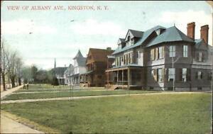 Kingston-NY-Albany-Ave-Homes-c1910-Postcard