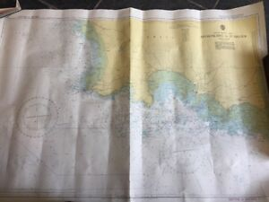 VINTAGE-ADMIRALTY-MARINE-SEA-CHART-1137-Approaches-to-ST-HELIER