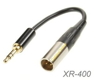 6-inch-Mini-XLR-Male-to-3-5mm-Stereo-Male-Plug-Pro-Lapel-Mic-Cable-XM-400Z