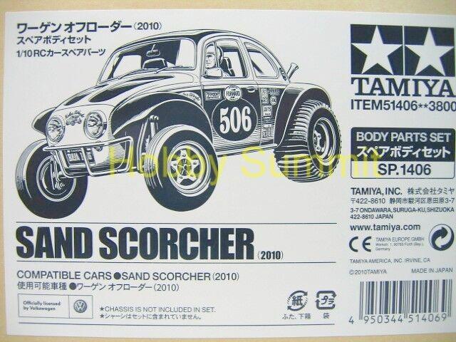 51406  Tamiya 1/10 R/C  SAND SCORCHER  2010 BODY SET   Off-Road Buggy 58452