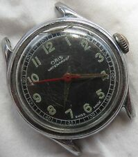 Oris Military wristwatch nickel chromiun case load manual 31,5 mm. in diameter