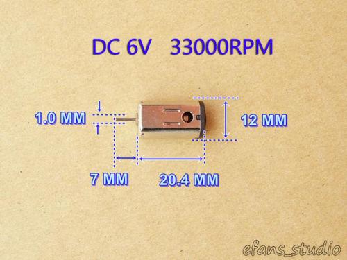 Mini 10mm*12mm N30 Motor DC 5v 6v 33000RPM Strong Magnetic High Speed