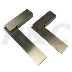 "2pc Engineers Square Set 2"" 50mm & 3"" 75mm Small Precision Set Squares Polished 7426891446896"