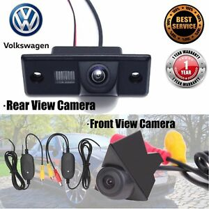 Front-View-amp-Rear-View-Camera-With-Wireless-Sensor-For-VW-Tiguan-T4-T5-Passat