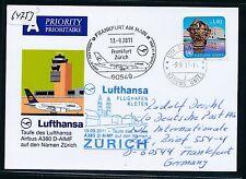 64753) LH FF Taufe A380 Zürich - Frankfurt 13.9.2011, So-Kte ab UNO Genf