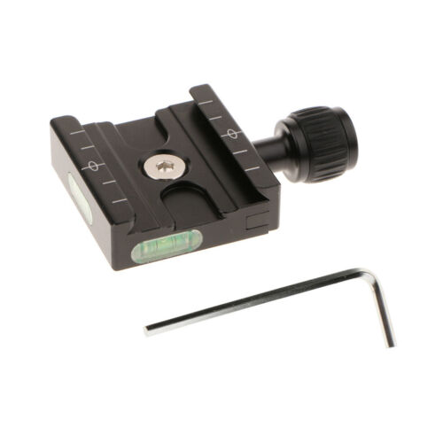 50mm QR Clamp Adapter /& Level Arca-Swiss for Tripod Head Quick Release Plate