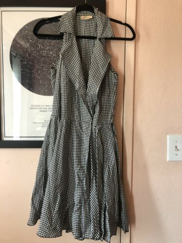 Vintage Bonnie Strauss Size 8 Gingham Sleeveless W