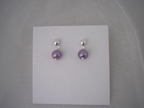 Dainty Pearl Drop Stud Earrings for women girls brides bridesmaids ladies 416