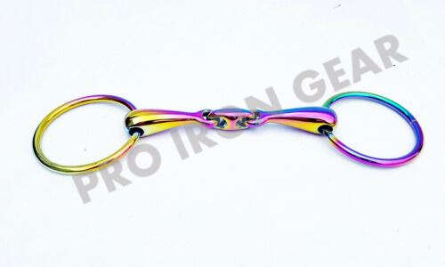 solide Rainbow Anneau ample Bridon Horse Bit avec lien ovale en acier inoxydable