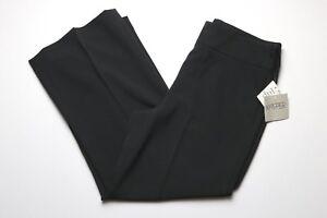 NEW-Kasper-Womens-Dress-Career-Pants-Size-4-Black-Wide-Leg-Loose-Fit-Capri-Crop
