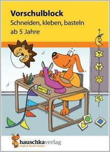 NEU-Ubungsblock-fuer-Kinder-ab-5-Jahren-Vorschule-Schneiden-kleben-basteln