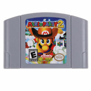 For-Nintendo-64-N64-Mario-Party-2-Video-Game-Cartridge-Only-Ship-from-New-York
