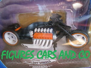 MOTO 1/18 DRAGSTER V12 FERENZO NOIR 2003  HOT WHEELS