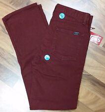 VANS SLIMBO Merlot Burgundy Jeans boys size 18 (28x29 1/2) NWT MSRP $44 (#767)
