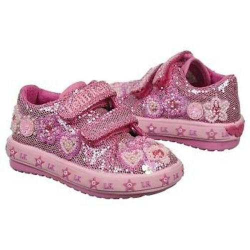 Lelli Kelly Eloise Baby LK9443 Pink Toddler Shoes NEW Sneaker Sparle Hand Beaded