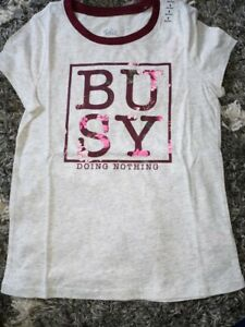 Girls-justice-short-sleeve-tee-size-8-new-busy-graphics