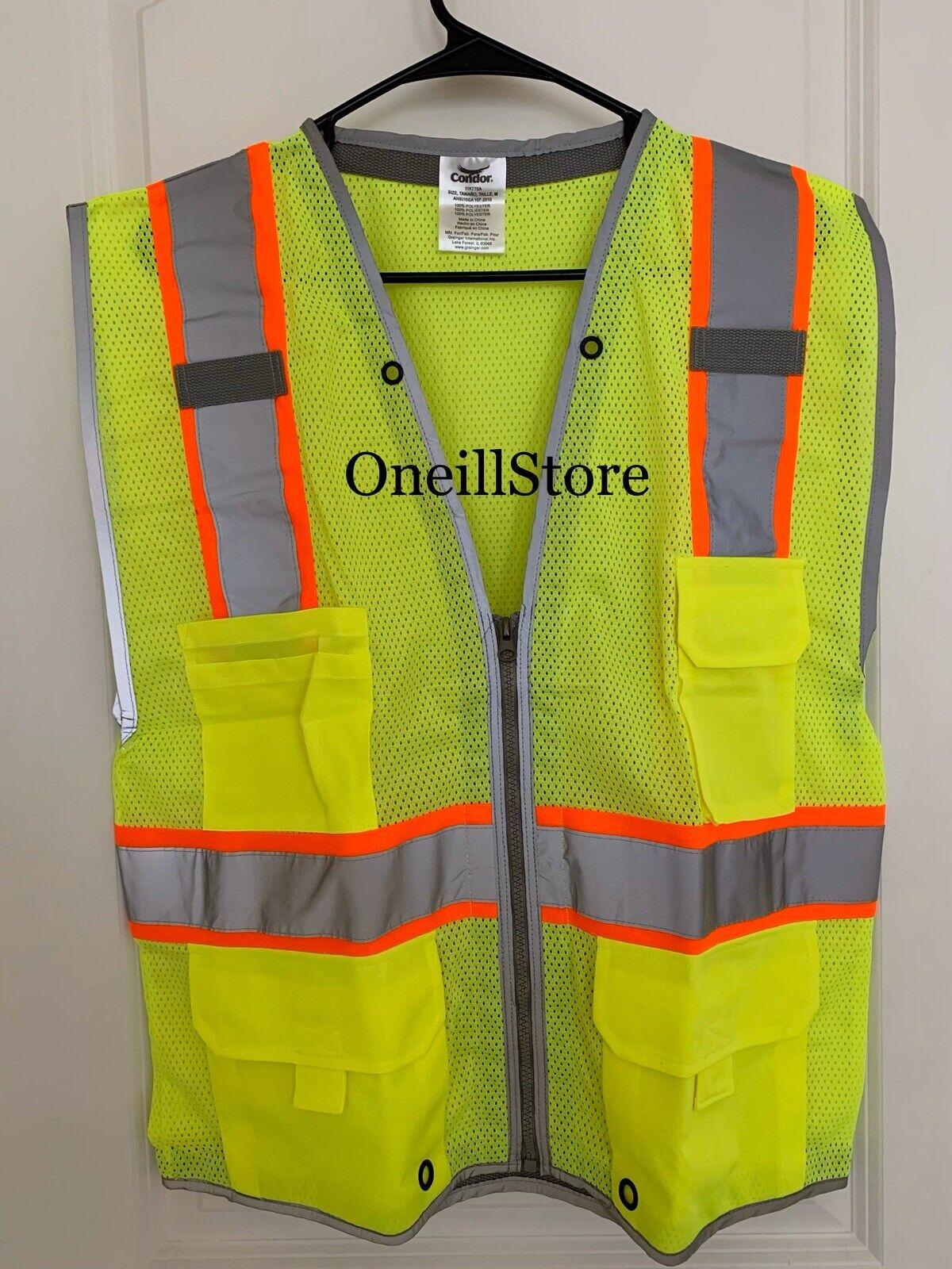 Class 2 High Visibility Vest XL Lime CONDOR 11K777