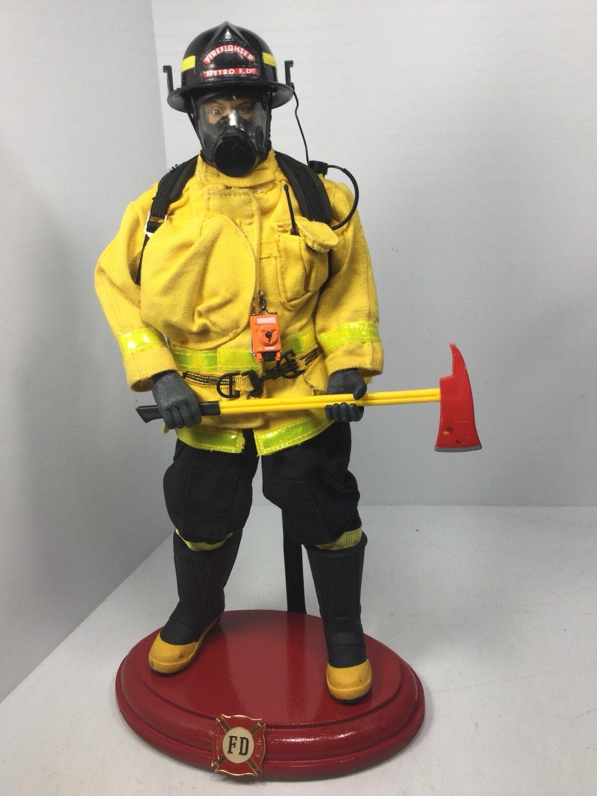 16 21ST CENTURY US FIREuomo FIREFIGHTER STe AXE 911 NYFD DRAGON DID BBI 21