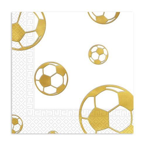 """Servietten /""""Goldener Fußball/"""" 15er Pack"""