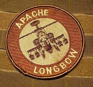 GUNSHIP Red Skins Boeing ATTACK HELICOPTER AH-64 APACHE LONGBOW velkrö DD PATCH