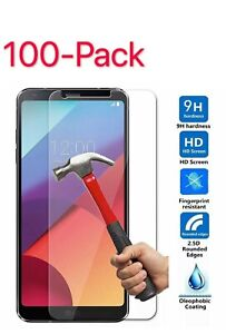 100x Screen Protector Tempered Glass Anti-Scratch Guard Shield For LG G6