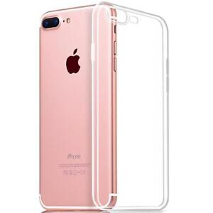 For-Apple-iPhone-7-Plus-Clear-Gel-Back-Case-Cover-With-Free-Glass-Protector