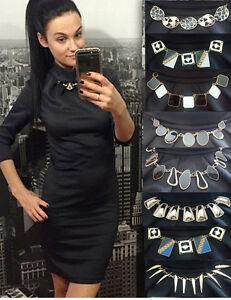 Sexy-Kleid-Minikleid-Abend-Damen-Mode-Party-Schwarz-Sommer-S-M-L-XL-36-38-40-42
