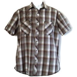 J-Ferrar-Mens-Size-XL-Cowboy-Western-Rockabilly-Shirt-Pearl-Snap-100-Cotton