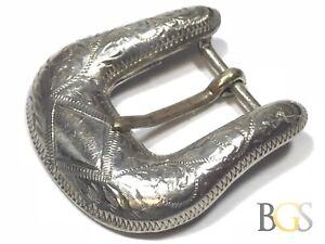34cd57b34dd Vintage Ladies SOLID Sterling Silver Belt Buckle - BOJAR - Take A ...