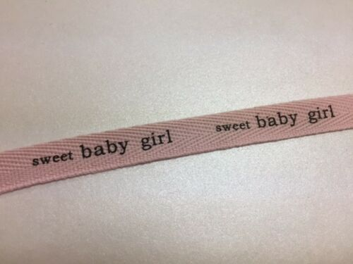 "/""Sweet Baby.../"" 1//2/"" cotton ribbon in pink and blue color 10yds"