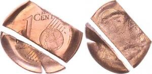 Germany Lack Coinage 1 Cent Without Milling Machine Rücks. Incus Embossed,