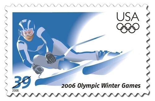 2006 39c Turin, Piedmont, Italy Winter Olympics Scott 3